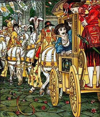 Ilustraţie cu Heinrich şi prinţul