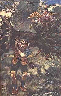 Uriasul carand copacul